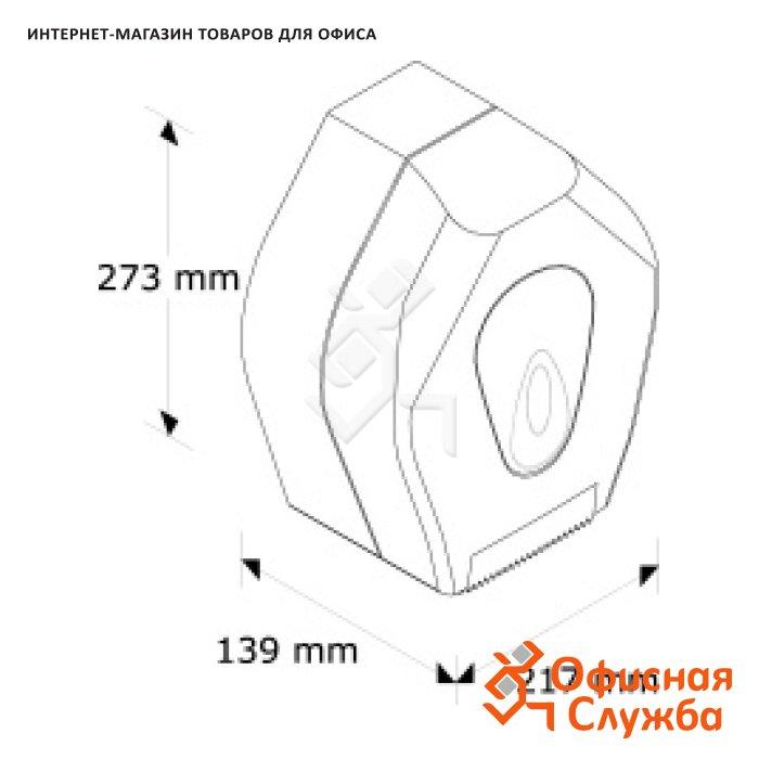 Диспенсер для бумаги для заметок с липким слоем Z-сложения 75х75 мм прозрачный 564700