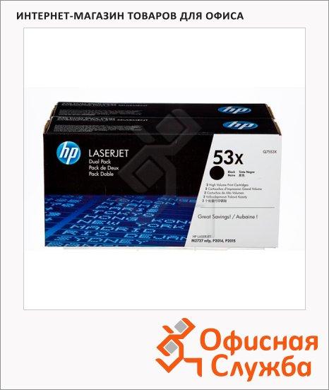 фото: Тонер-картридж Hp Q7553XD черный, 2шт/уп