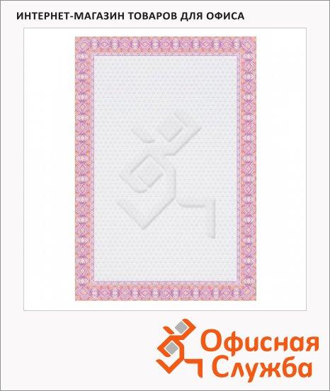 Сертификат-бумага Decadry красная двойная спираль, А4, 115г/м2