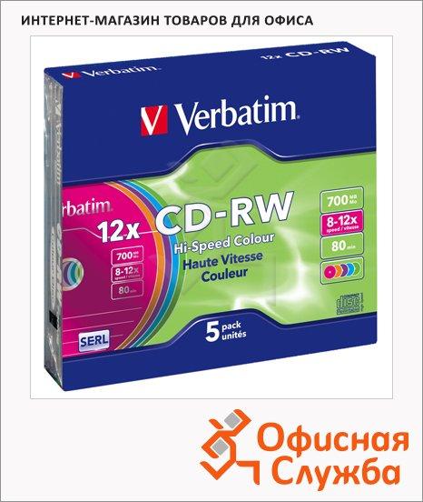 Диск CD-RW Verbatim Slim