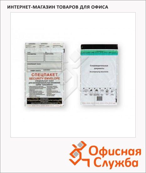 Пакет почтовый полиэтиленовый Suominen Security B4 белый, 250х353мм, 70мкм, 500шт, стрип, Куда-Кому