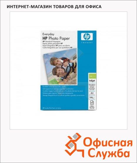 Фотобумага для струйных принтеров Hp Photo А4, 100 листов, 170 г/м2, полуглянцевая