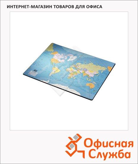 Коврик настольный для письма Esselte Europost 54х41см, карта мира, 32184