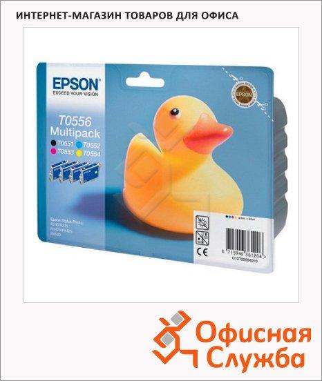 фото: Картридж струйный Epson C13 T05564010 4 цвета, 4шт/уп