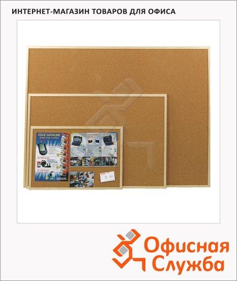 Доска пробковая Esselte 500969, коричневая, деревянная рама