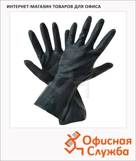 Перчатки защитные Восток-Сервис КЩС тип I, латекс, чёрные