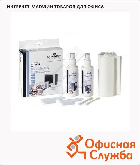 Набор для чистки оргтехники Durable 2 спрея+2 шпателя+20 салфеток+2 тампона, 5718-00