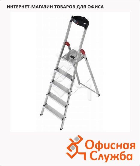 Лестница-стремянка Hailo L60 5 ступеней, h=280см