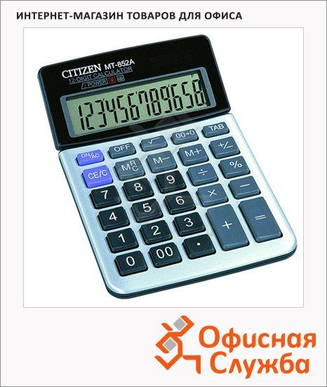 фото: Калькулятор настольный Citizen MT-852 серый 12 разрядов, бухгалтерский