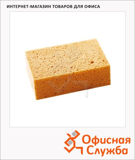 фото: Губка для меловой доски Magnetoplan 12298 10х16см пористая, коричневая