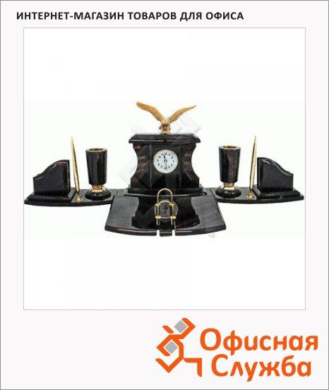 фото: Набор настольный Good Sunrise Империал 6 предметов обсидиан с бронзой