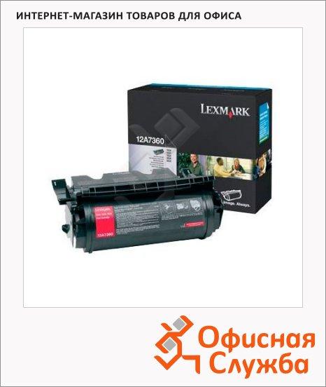 Тонер-картридж Lexmark 12A7360, черный