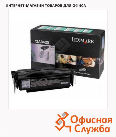 Тонер-картридж Lexmark 12A8420, черный