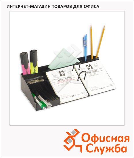 Подставка для календаря Uniplast черная, с отделением для ручек