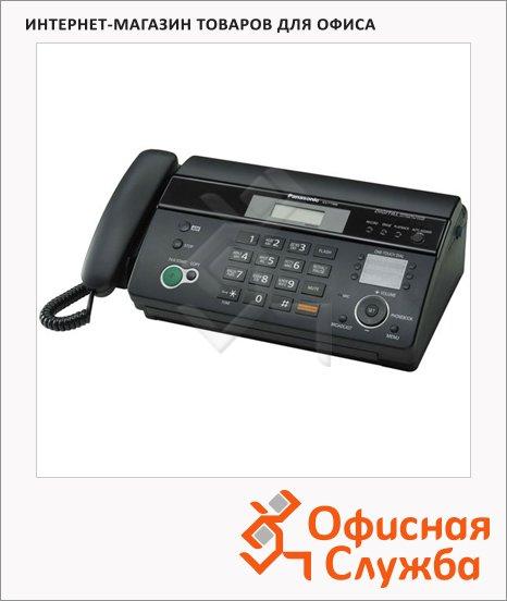 Факсимильный аппарат Panasonic KX-FT988RUB черный, термопечать А4