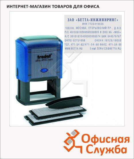 Штамп прямоугольный самонаборный Trodat Printy Typomatic 8 строк, 60х40мм, 4912/DB