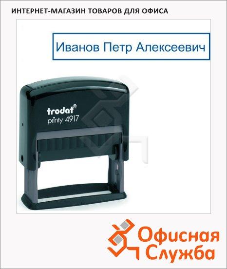 Оснастка для прямоугольной печати Trodat Printy 50х25мм, черная, 4917