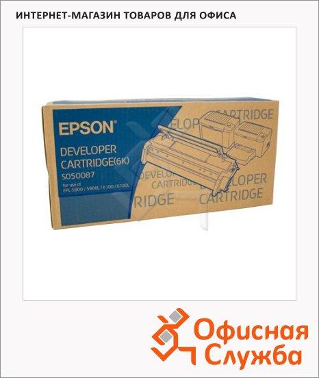 Тонер-картридж Epson C13S050087, черный