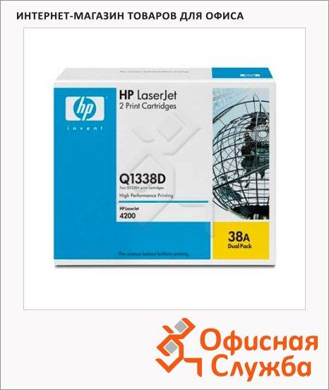 Тонер-картридж Hp Q1338D, черный, 2шт/уп