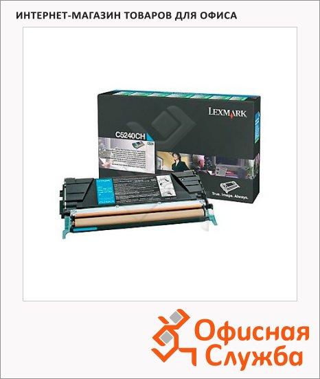 Тонер-картридж Lexmark C5240CH, голубой