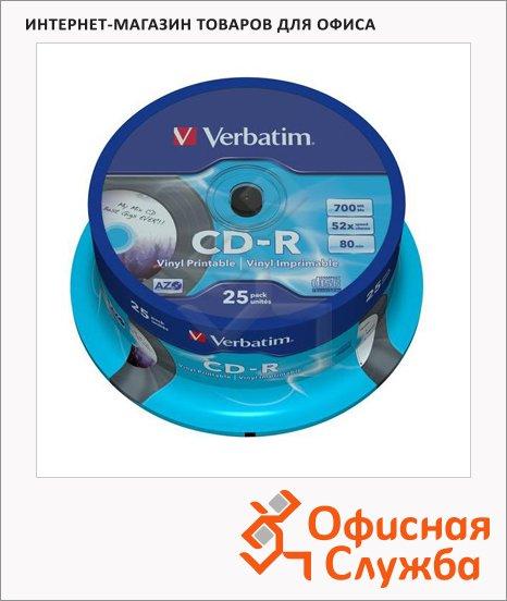 ���� CD-R Verbatim DL+ CB Printable 700Mb, 52x, 25��/��