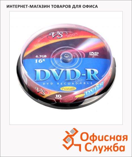 Диск DVD-R Vs 4.7Gb, 16x, Cake Box, 10шт/уп, Print