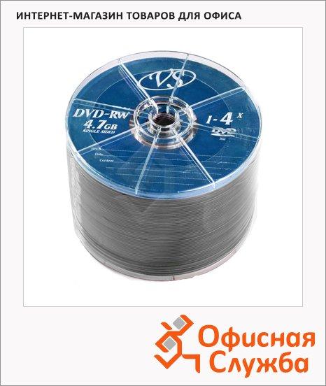 Диск DVD+RW Vs 4.7Gb, 4x, Bulk, 50шт/уп