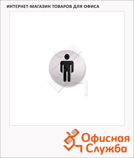 Указатель Мужской туалет Attache 85мм, алюминий