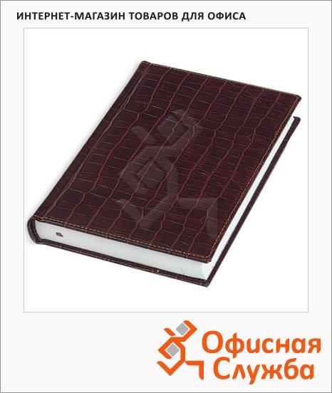 Ежедневник полудатированный Bruno Visconti Croco коричневый, А6, 208 листов