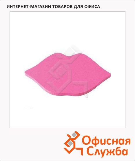 Блок для записей с клейким краем Post-It Classic Губки, розовый неон, 70х122мм, 75 листов, фигурный, 7500L