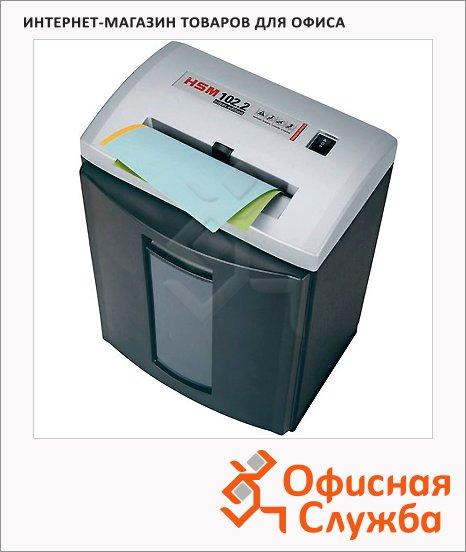 Персональный шредер Hsm 102.2 С-3.9, 15 листов, 25 литров, 2 уровень секретности, серебристый