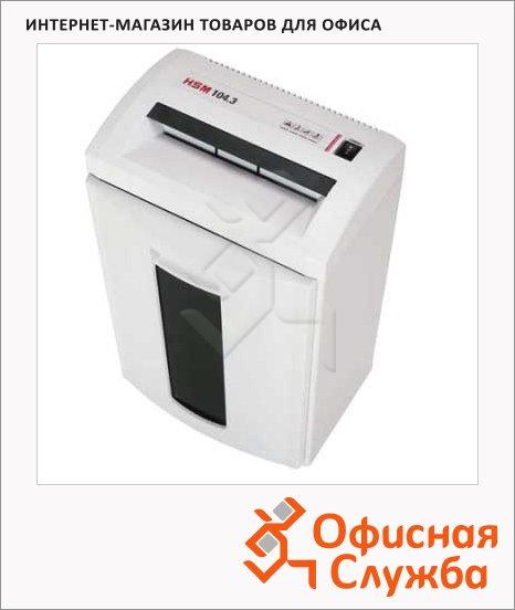 Персональный шредер Hsm 104.3-1.9х15, 11 листов, 33 литра, 4 уровень секретности