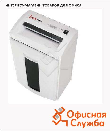 Персональный шредер Hsm 105.3-3.9х30, 14 листов, 33 литра, 3 уровень секретности
