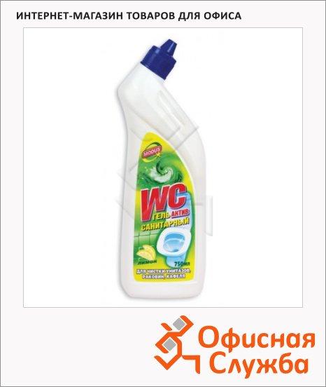 Чистящее средство Санитарный 0.75л, актив, гель