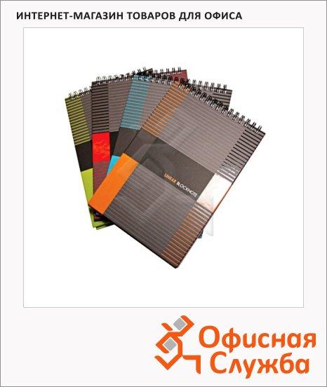 Блокнот Ultimate, А4, 80 листов, в клетку, на спирали, ламинированный картон, ассорти, твердый переплет