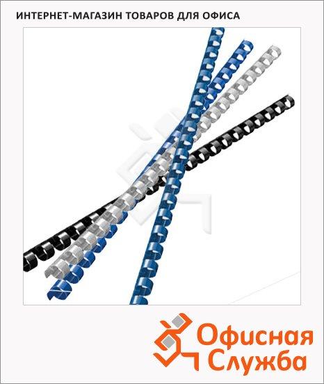 Пружины для переплета пластиковые Leitz, на 20-50 листов, 8мм, 100шт, кольцо