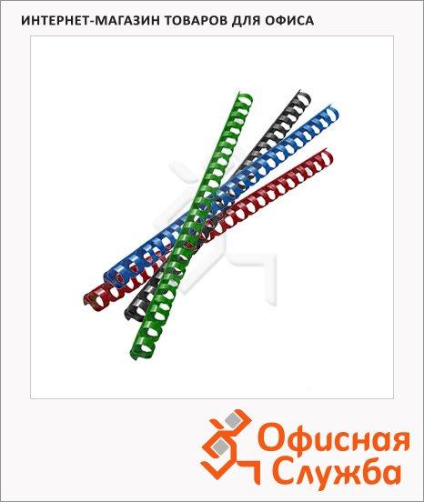 Пружины для переплета пластиковые Gbc, на 90-110 листов, 14мм, 100шт, кольцо
