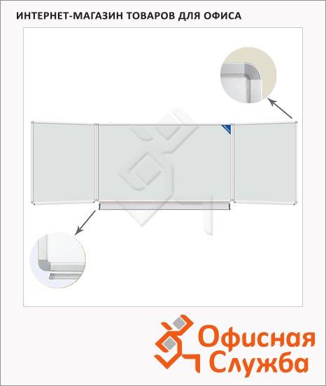 Доска магнитная маркерная Brauberg 231708 300х100см, белая, лаковая, алюминиевая рама