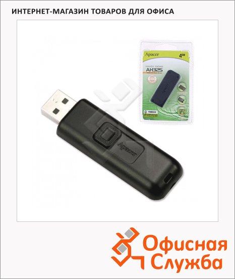 Флеш-накопитель Apacer Handy Steno AH325 4Gb, 10/3 мб/с, черный