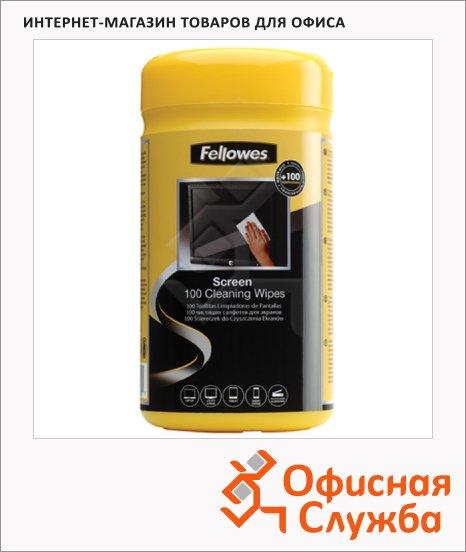 Салфетки чистящие для мониторов Fellowes FS-99703, 100шт/уп