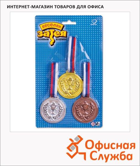 Праздничная медаль ассорти 3шт