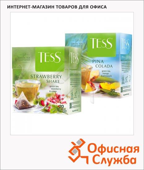 Чай Tess, зеленый, в пирамидках, 20 пакетиков