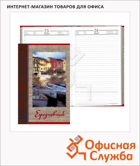 Ежедневник полудатированный Brauberg Венеция, А5, 192 листа