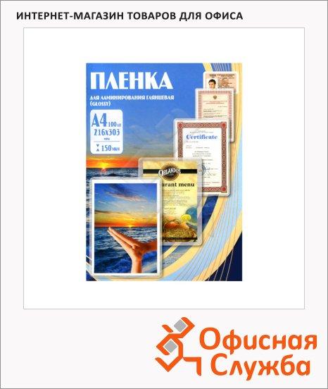 Пленка для ламинирования Office Kit, 100шт, 216х303 мм, глянцевая