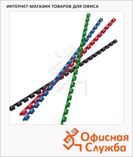 Пружины для переплета пластиковые Gbc, на 1-30 листов, 6мм, 100шт, кольцо