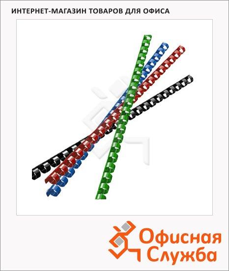 Пружины для переплета пластиковые Office Kit, на 20-50 листов, 8мм, 100шт, кольцо