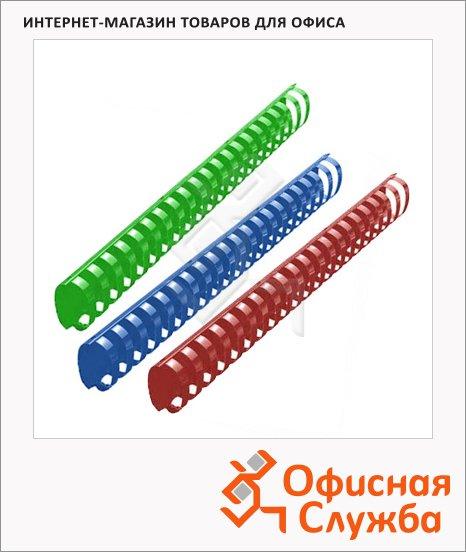 Пружины для переплета пластиковые Office Kit, на 300-350 листов, овал, 38мм, 50шт