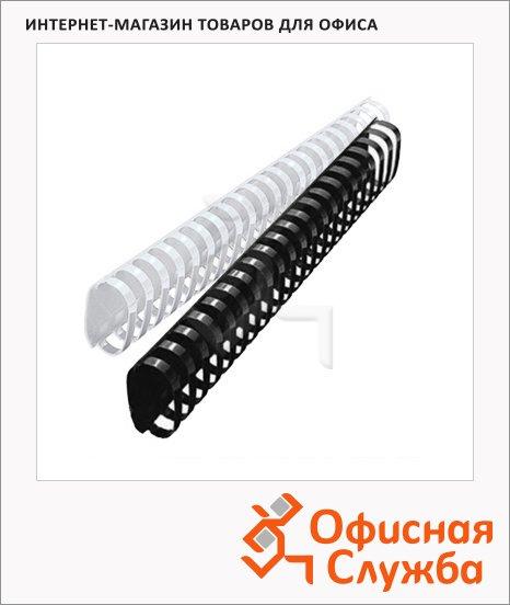 Пружины для переплета пластиковые Gbc, на 300-350 листов, овал, 38мм, 50шт