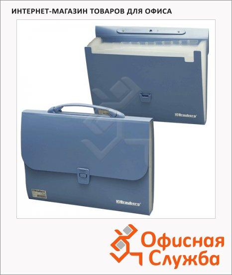 Портфель пластиковый Brauberg Comfort, 327х254х30мм, 13 отделений