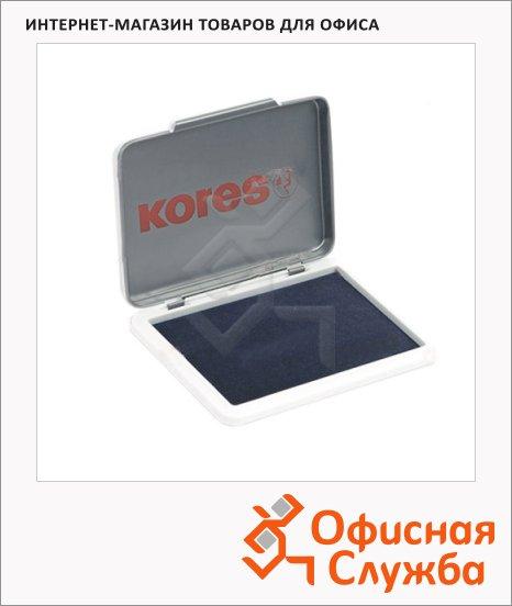 Штемпельная настольная подушка Kores 70х110мм, черная, краска на водной основе, металл